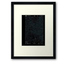 USGS Topo Map Oregon Groundhog Mountain 20110810 TM Inverted Framed Print