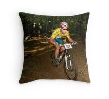 Short Track XC Race Throw Pillow