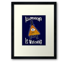 Bill Cipher Dorito Illuminacho Is Watching - White Framed Print