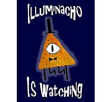 Bill Cipher Dorito Illuminacho Is Watching - White Photographic Print