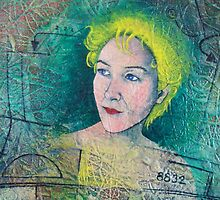 """Deatail from, Self Portrait, """"Conundrum"""" by Bonnie coad"""