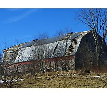 Dilapidated Barn (long view) Photographic Print
