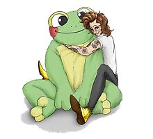 Harry's frog plushie by passthepencil