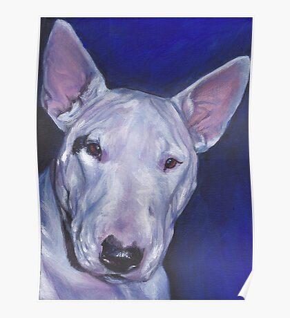 Bull Terrier Fine Art Painting Poster