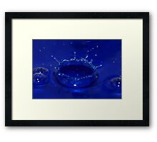 Blue Crown Framed Print