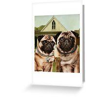 American Pug Gothic Greeting Card