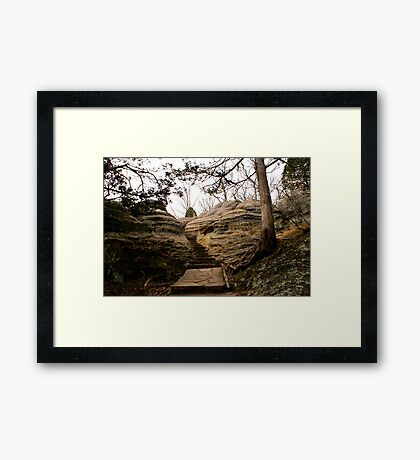 step to the clouds Framed Print