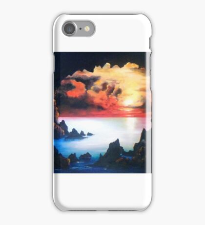 Sea Cave and Sunset; After the Storm iPhone Case/Skin