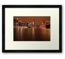 NYC Night view Framed Print