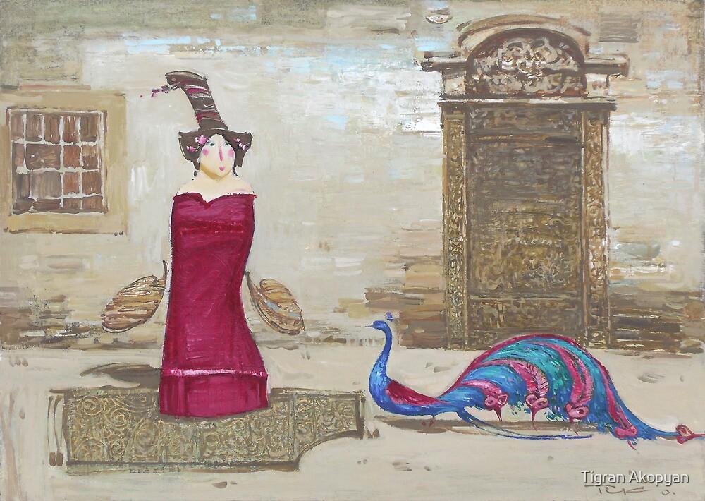 Riverside of golden peocock by Tigran Akopyan