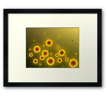 * sunflower field * Framed Print