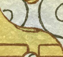 Avatar, Air and Earth symbols. Sticker