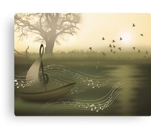 * river of music * Canvas Print