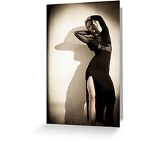 She's In Fashion  Greeting Card