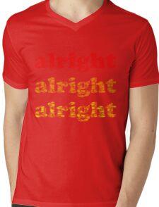 Alright Alright Alright - Matthew McConaughey : White Mens V-Neck T-Shirt