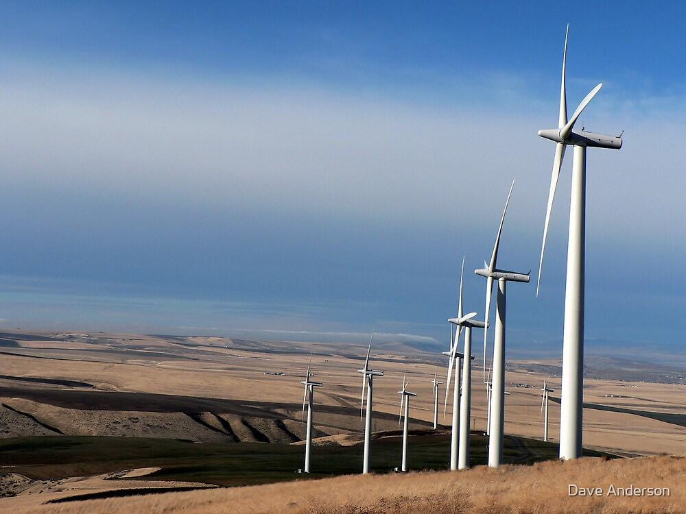Wind Mills on Jump-Off Joe Peak, Eastern Washington by Dave Anderson