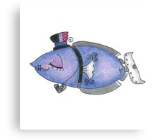 Steampunk Girly Fish Canvas Print