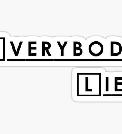 House MD Everybody Lies Hugh Laurie Sticker