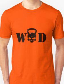 WOD Kettlebell Skull Black Unisex T-Shirt
