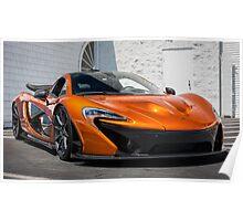 Volcano Orange McLaren P1 Poster