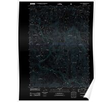 USGS Topo Map Oregon Staley Ridge 20110722 TM Inverted Poster
