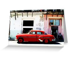 Red Car- Havana Greeting Card