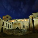 Colegiata de Santillana del Mar at night by Christopher Cullen