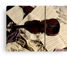 The resting Violin. Canvas Print