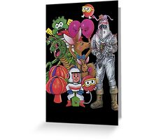 Classic Retro Atari Characters T-Shirt Greeting Card