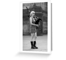AN UNCONVENTIONAL PIPER Greeting Card