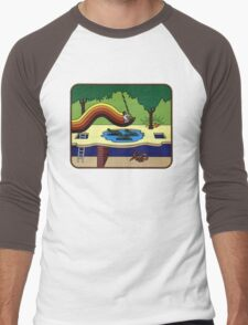 Atari Activision Pitfall Harry Men's Baseball ¾ T-Shirt