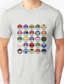 Pokeballs - pixel art T-Shirt