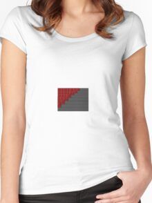 Stairs. Women's Fitted Scoop T-Shirt