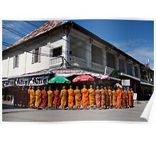 Monks collecting Alms  Poster