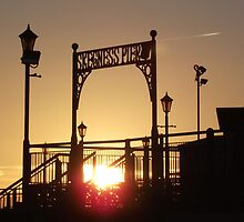 Morning Time Over The Pier At  Skegness... by Stephen Willmer