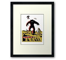 Space Invaders Moon Crater Monster Framed Print