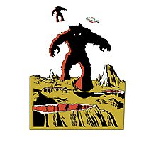 Space Invaders Moon Crater Monster Photographic Print