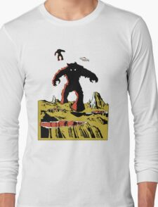 Space Invaders Moon Crater Monster Long Sleeve T-Shirt