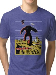 Space Invaders Moon Crater Monster Tri-blend T-Shirt