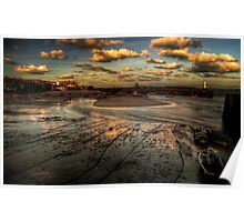 Harbour & Beach of St Ives Poster