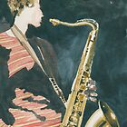 The Sax Player by ian osborne