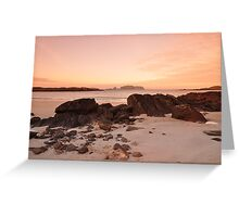 Sunset in island of Lewis Greeting Card