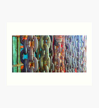 Chain Wall - Gympie, Queensland, Australia Art Print