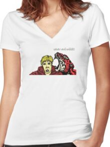 Calvin & Hobbes Grown Up Women's Fitted V-Neck T-Shirt