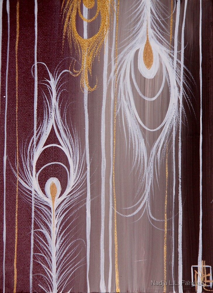 Peacock Feathers - Aubergine Series  by Nadja L.L. Farghaly
