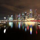 Singapore skyline by thesiracusas