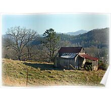 Little barn on the hill Poster