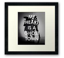 Adam Lambert My Heart Is A Ghost Town Framed Print