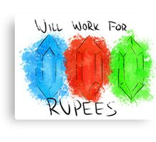 Will Work for Rupees Canvas Print