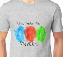 Will Work for Rupees Unisex T-Shirt